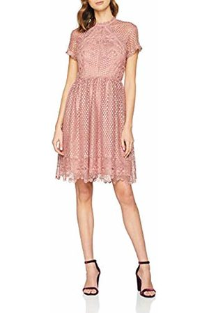 Little Mistress Women's Gaby Apricot Lace Skater Dress Party