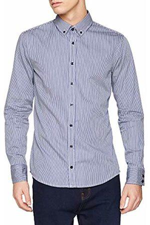 HUGO BOSS Men's Mabsoot Casual Shirt, (Dark 404)