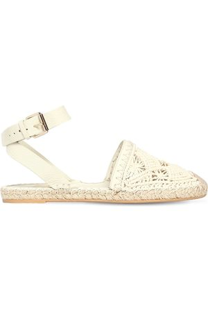 Valentino 10mm Macramé Espadrille Sandals