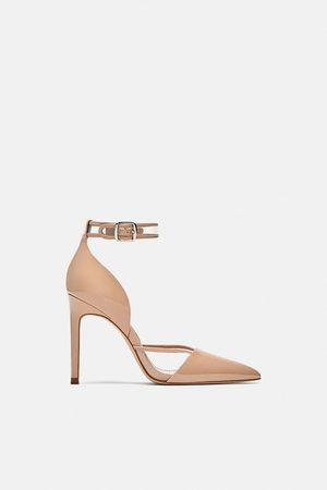 7367087f7 Zara HIGH-HEEL COURT SHOES WITH ANKLE STRAP