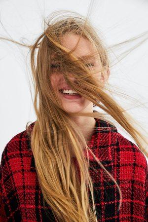 Zara CHECK TWEED OVERSHIRT