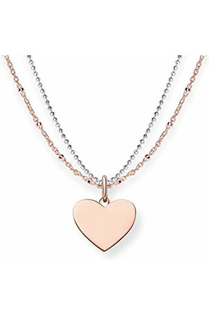 Thomas Sabo Women Necklaces - Women-Necklace Love Bridge 925 Sterling Silver 18k rose plating Length from 40 to 45 cm LBKE0004-415-12-L45v