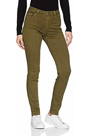 Tommy Hilfiger Women's High Rise Santana Skinny Jeans (Gd Military Olive Stretch 911)