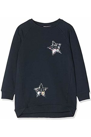Name it Girl's Nmfrastine Ls SWE Tunic Bru Sweatshirt, Dark Sapphire