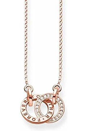 Thomas Sabo Women's 925 Sterling Silver Glam and Soul Forever Together Small Rose Gold Plating Necklace of Length 45 cm KE1488-416-40-L45v