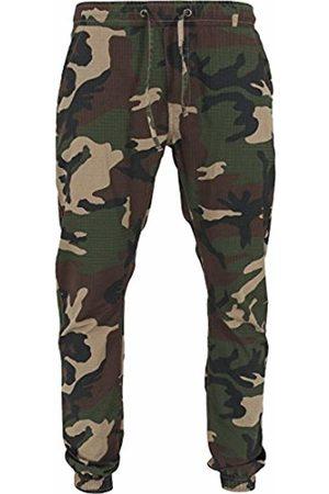 Urban classics Men's Jogginghose Ripstop Jogging Pants - Tracksuit Bottoms - Multicoloured (Wood Camo)