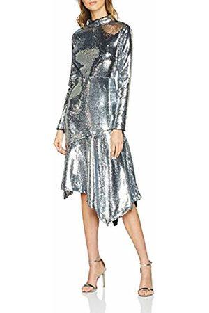 warehouse Women Party Dresses - Women's Sequin Open Back High Neck Midi Party Dress, ( 91)