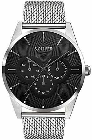 s.Oliver Watches - Unisex Adult Multi dial Quartz Watch with Stainless Steel Strap SO-3574-MM