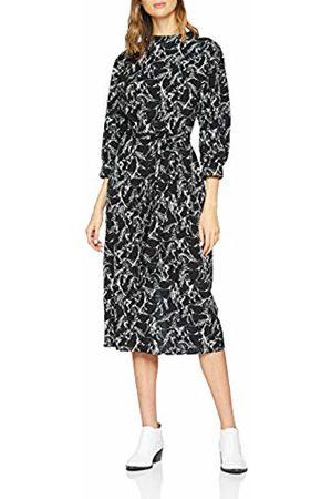warehouse Women's Horse Print High Neck Midi Dress, ( 77)