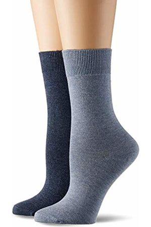 Camano Women Tights & Stockings - Women's 9106 Socks, Blau (Stone Mel (99) + Jeansblau 0099)