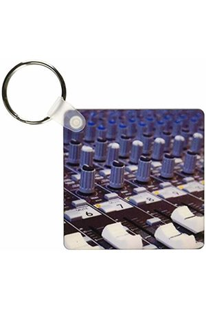 3dRose Audio Mixer Board Mixing Engineer Knobs Sliders Slider Buttons Studio Recording Keyring
