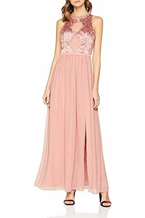 Little Mistress Women's Ginnie Apricot Embroidery Maxi Dress
