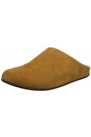 FitFlop Men's Shove Mule Leather Open Back Slippers, (Dark Tan 277)