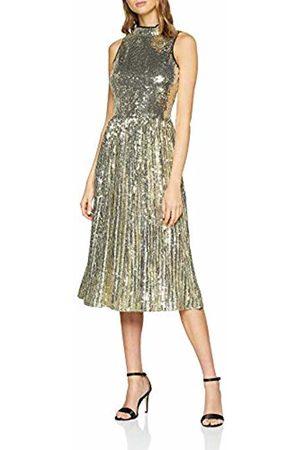 warehouse Women's Pleated High Neck Midi Dress