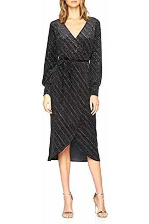 warehouse Women's Glitter Velvet Wrap Midi Party Dress, ( 77)