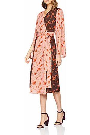 Lost Ink Women's Floral Print Mix WRAP MIDI Dress Skirt