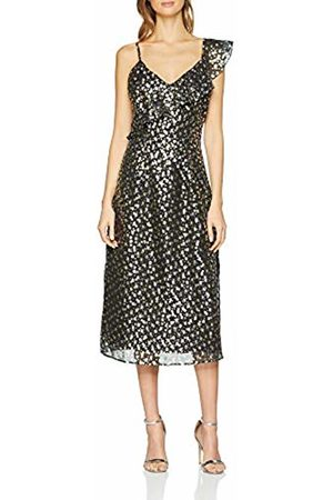 warehouse Women's Foil Star Jacquard Wrap Dress, ( 77)