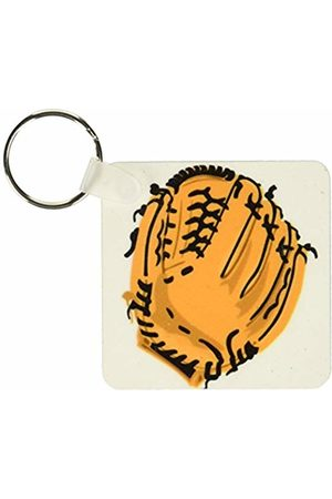 3dRose Baseball Glove - Key Chains, 2.25-inch, Set of 2 Keyring