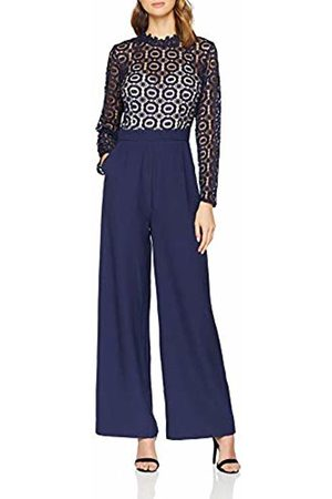 Little Mistress Women's Alice Navy Crochet Lace Jumpsuit
