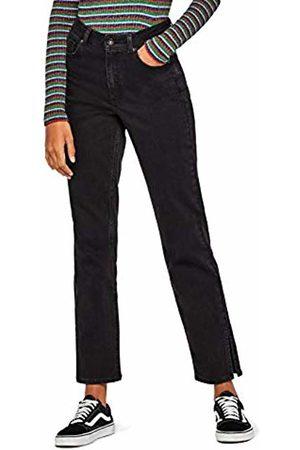 find. Split Hem Straight Jeans
