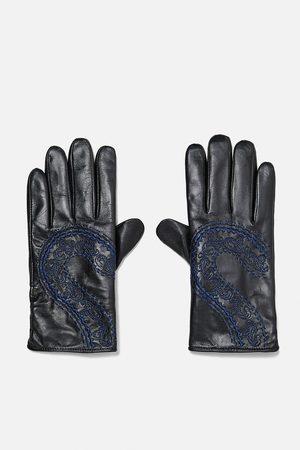 Zara Gloves - EMBROIDERED LEATHER GLOVES