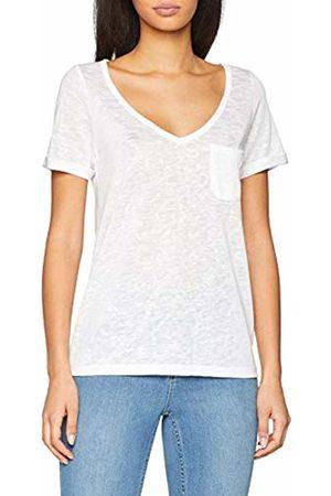 Object Women's Objtessi Slub S/s V-Neck Noos T-Shirt