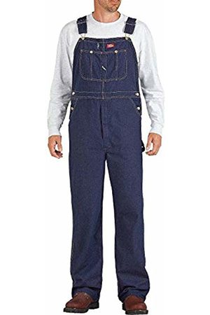 Dickies Men's Bib Overall Smooth Flared Loose Fit Jeans