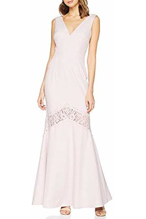 Little Mistress Women's Abbie Lilac Plunge Maxi Dress with Lace Insert