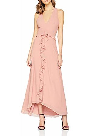 Little Mistress Women's Ambrose Apricot Plunge Maxi Dress