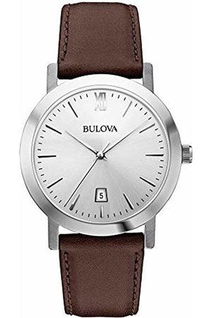 BULOVA Men's Analogue Classic Quartz Watch with Leather Strap 96B217