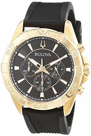 Bulova Mens Multi dial Quartz Watch with Leather Strap 97A137