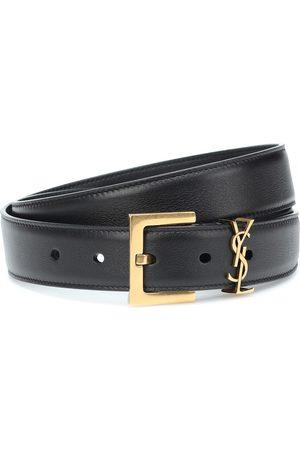 Saint Laurent Monogram leather belt