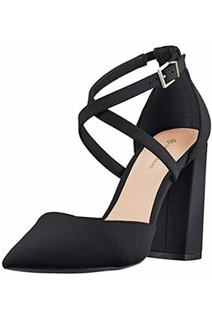 Call it Spring Women's Adiralla Ankle Strap Heels, (Jet 001)