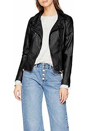 Only Women's Onlflora Faux Leather Biker Cc OTW Denim Jacket