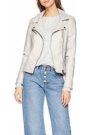 Only Women's Onlflora Faux Leather Biker Cc OTW Denim Jacket