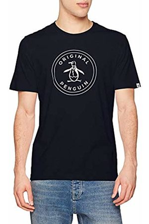 Original Penguin Men's Stamp Logo T-Shirt, (Dark Sapphire)