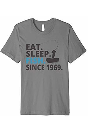 Eat Sleep Fish Fishing Birthday Shirts Eat Sleep Fish Since 1969 | 50th Birthday Shirt Fishing Gift