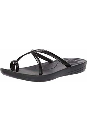 FitFlop Women Flip Flops - Women's Prima Iqushion Cross Slide-Pearlised Flip Flops