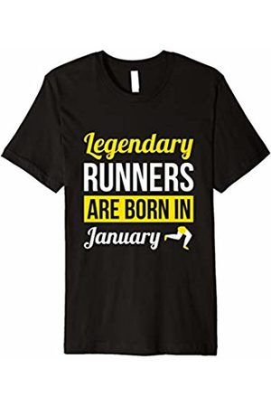 Running Birthday Gifts and Shirts Legendary Runners Are Born In January Gift Running T-Shirt