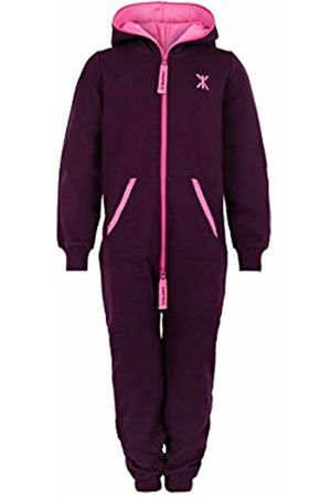 Onepiece Girl's Solid Overalls, Burgundy