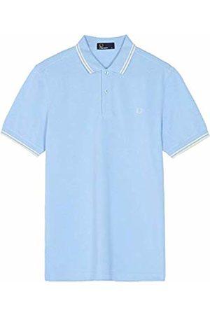 Fred Perry Men's Twin Tipped Shirt Polo (Sky /Ecru F81)