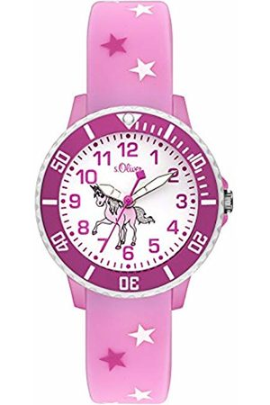 s.Oliver Unisex Child Analogue Quartz Watch with Silicone Strap SO-3561-PQ