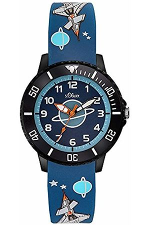 s.Oliver Unisex Child Analogue Quartz Watch with Silicone Strap SO-3555-PQ