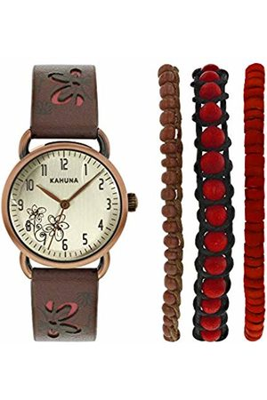 Kahuna Women's Quartz Watch with Dial Analogue Display and Leather Strap AKLS-0250L