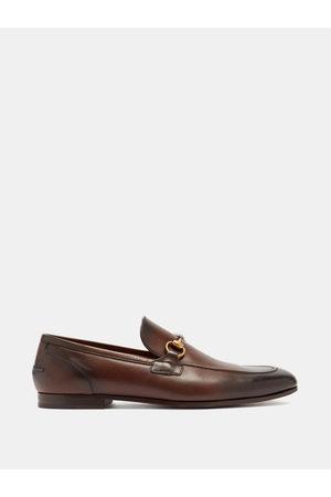 Gucci Jordaan Horsebit Leather Loafers - Mens