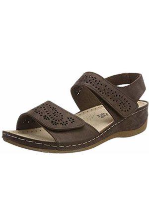 LICO Women's Padua Ankle Strap Sandals, Braun