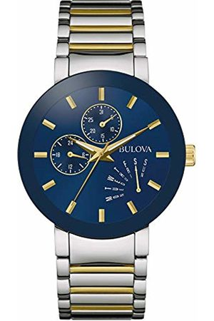 BULOVA Mens Multi dial Quartz Watch with Stainless Steel Strap 98C123