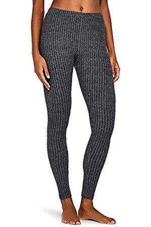 IRIS & LILLY Ribbed Legging Pyjama Bottoms, (Dark Heather )