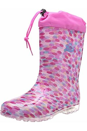 LICO Girls' Power Blinky Wellington Boots, /Rosa/Türkis