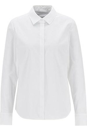 HUGO BOSS Women Blouses - Regular-fit tailored blouse in stretch cotton poplin